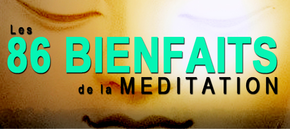 86 bienfaits de la meditation