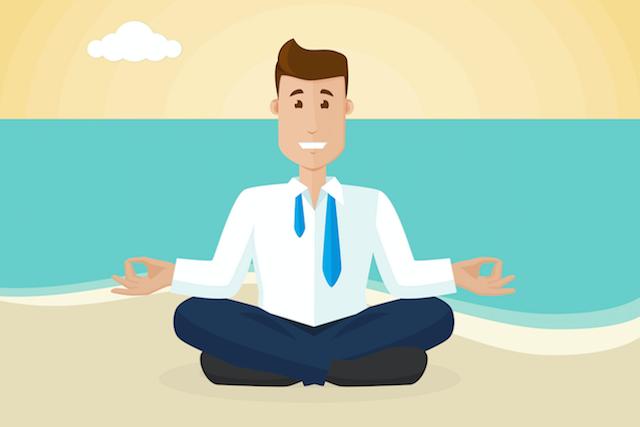 meditating-on-a-beach
